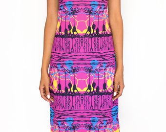 Neuroscience Dress - Trippy Pink Retina Print - Science Teacher Dress - Medical Student Gift - Pink dress - Women in STEM gift
