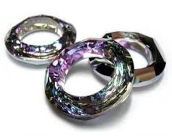 Swarovski Crystal Cosmic Ring 4139 Vitrail Light - 20mm - Pack of (2) Two ~ (CL264)