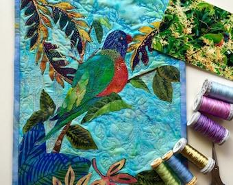 Handmade original fibre art/wall decor /wall art/ applique/ patchwork quilting