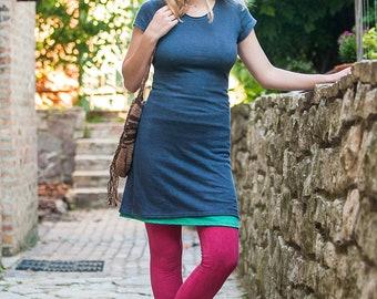 ORGANIC dress-short sleeve t-shirt dress-hemp-organic cotton