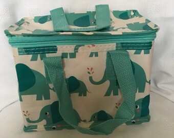 Elephant insulated childrens lunch bag