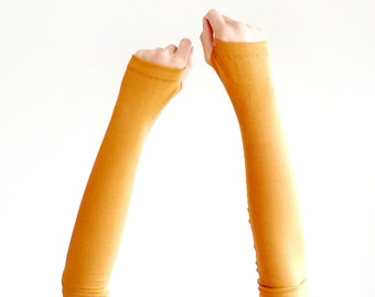 Armwarmers // Gloves // Fingerless Gloves // Arm Warmers // Wrist Warmers // Sleeves // Arm Stockings // Mustard