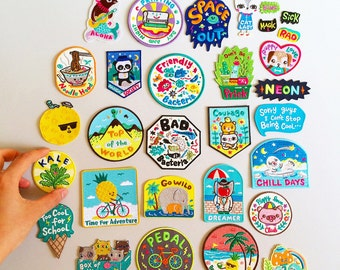 Bel's Art World - 9 x Mix and Match Iron on Patches