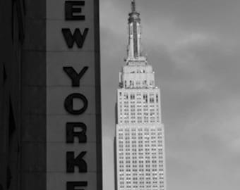 Hotel New Yorker Black and White Print 8x12, photograph