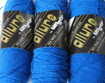3 skeins Allure by Unger