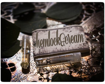 hemlock and cream - natural perfume oil mini sampler - 2 vials o joy - primary notes: colombian coffee and sweet orange blossom