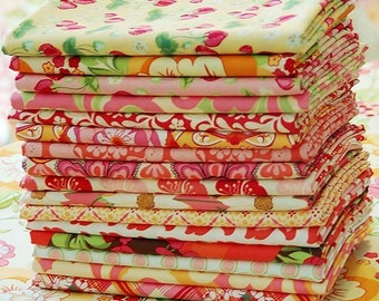 FREE Charm Squares with Purchase, MEADOWSWEET by Sandi Henderson Fat Quarter Set, The Peach Collection