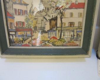 Vintage Monmarte and Moulin Rouge Paris Prints