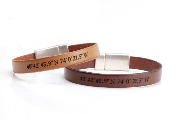 Coordinates Bracelets for Couple