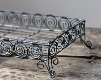 Vintage French Wire Cooling Rack - Wirework Cake Display