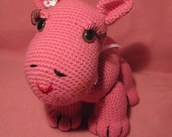 Crocheted Hilda The Hippo