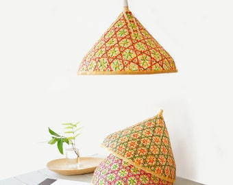 Bamboo pendant light re purposed fish trap ceiling lamp bamboo pendant lamp woven bamboo lamp lamp shade n 2 aloadofball Images