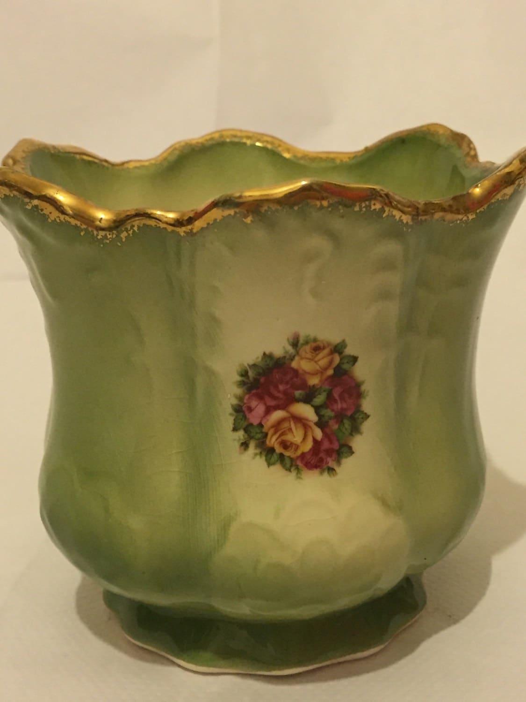 Vintage nwao staffordshire ywao ironstone vase planter zoom reviewsmspy