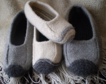 Duffers - Revisited   -   A felted slipper knitting pattern in multiple sizes and widths