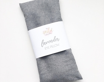 Lavender Eye Pillow | Soothing, Eye Puffiness, Dark Circles, Rice Pack, Warm Compress, Cold Compress, Natural, Organic, Essential Oils
