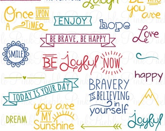 Doodle Words Photoshop Brushes, Typography Subway Art Photoshop Brush - Commercial and Personal Use