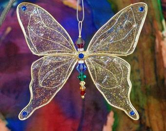 Suncatcher Butterfly Large - Birthstones & 28 More Swarovski Colors