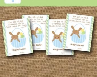 Printable kids easter card easter bunny scripture card diy childs easter card easter basket bunny card diy printable scripture bible verse easter for children romans 623 easter printable negle Gallery