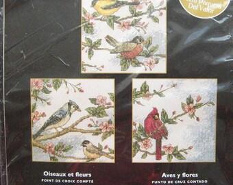 Bucilla Birds & Blossoms Cross Stitch Kit