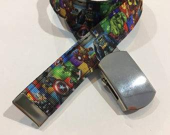 "SuperHeros Belt in All Sizes with a Military Buckle 1"" Wide"