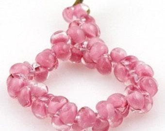 10 Flamingo Pink Teardrops - Handmade Lampwork Glass 10mm Boro Beads (21949)