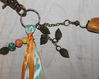 IDEA gift hostess-key charm and Ribbon colors green/orange