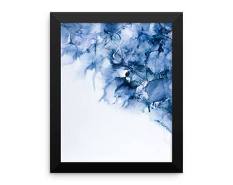 Love in a Mist - Abstract Alcohol Ink Painting printed on photo paper and framed, Housewarming Gift, Home Decor
