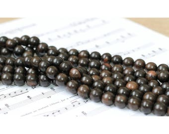 Set of ebony wood beads 7 - 10mm