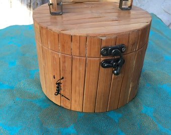 Bamboo jewelry box or purse
