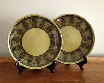 Vintage Atomic Onion Dishes Taylor Smith & Taylor Riviera Ironstone Plates