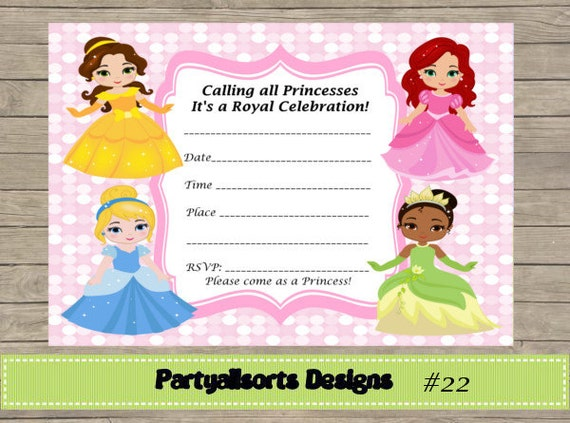 Diy fill in yourself princess invitations diy fill in yourself princess invitations solutioingenieria Image collections