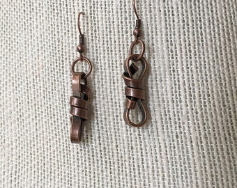 CLEARANCE - Barb wire copper earrings