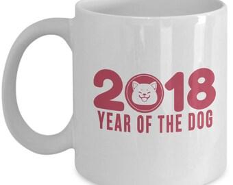 Coffee Mug -Year Of The Dog 2018- Chinese New Year Chinese Zodiac Animals
