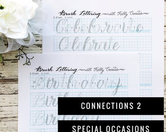 Connections 2 - Special Occasions Words & Phrases for Large Brush Pens