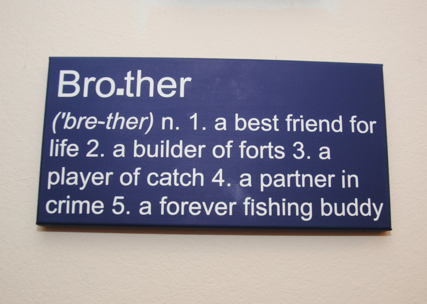 Brother Sign Definition Gift For