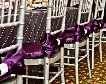 CLEARANCE Purple/plum Chiavari Chair Cover Real Rhinestone Wrap/ Chiavari Chair Covers/ Quinceanera/ Wedding Decoration/ Unique chair cover
