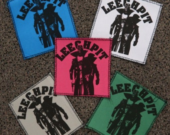 Leechpit Streetwear AGING HIPSTER Printed Canvas Patch
