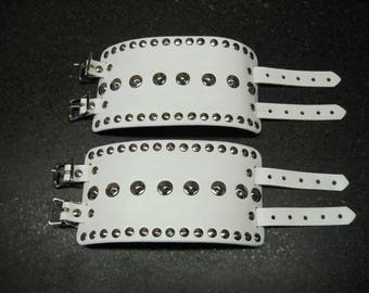 Leather Armor Studded Bracers Wrist or Bicep Cuffs