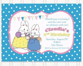 Max and Ruby Birthday Invitations
