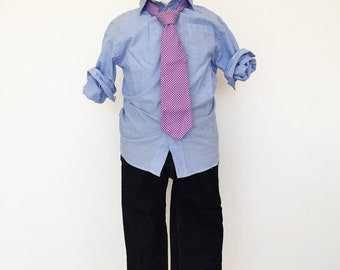 Grape Purple Gingham Necktie
