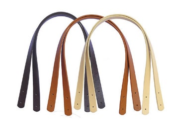 1 Pair 60cm/23.6 inch PU Leather Bag Handles, Synthetic Leather Handles, Shoulder handbags Handles