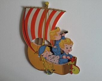 Vintage Dolly Toy Cardboard  Wall Hanging.