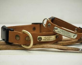 Dog collar, Leather Dog Collar, Dog Collar Leather, Personalized Dog Collar, Dog Collar Personalized, Adjustable collar, Small & Medium Dog.