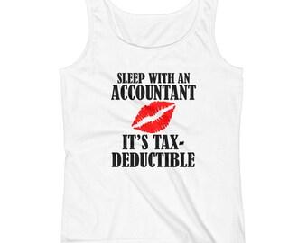 Funny Accountant Ladies' Tank