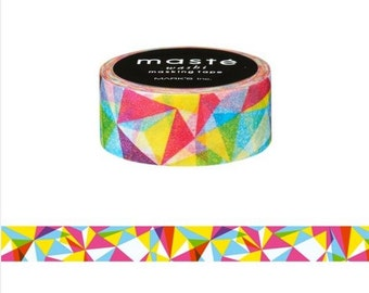 Colorful Geometric Triangles Washi Tape - Maste Geometric MST-MKT92-A