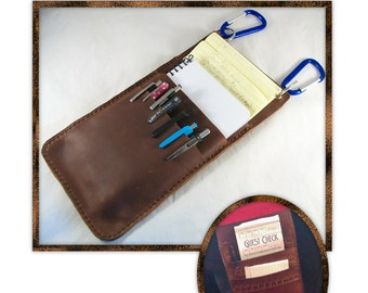 Pen and Pad Pouch leathercraft pattern - Instant download - PDF ONLY