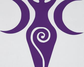 Triple Goddess, Maiden, Mother & Crone Vinyl Decal