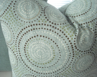 Indoor/Outdoor -- Decorative Pillow Cover- Geometric-Throw/Lumbar Pillow -Spa Colors -Suzani