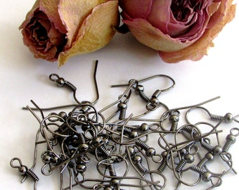 X 100 (50 pairs) black wire hooks