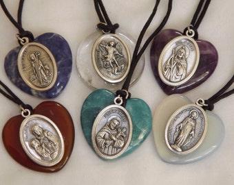 Saints Over Your Heart pendant